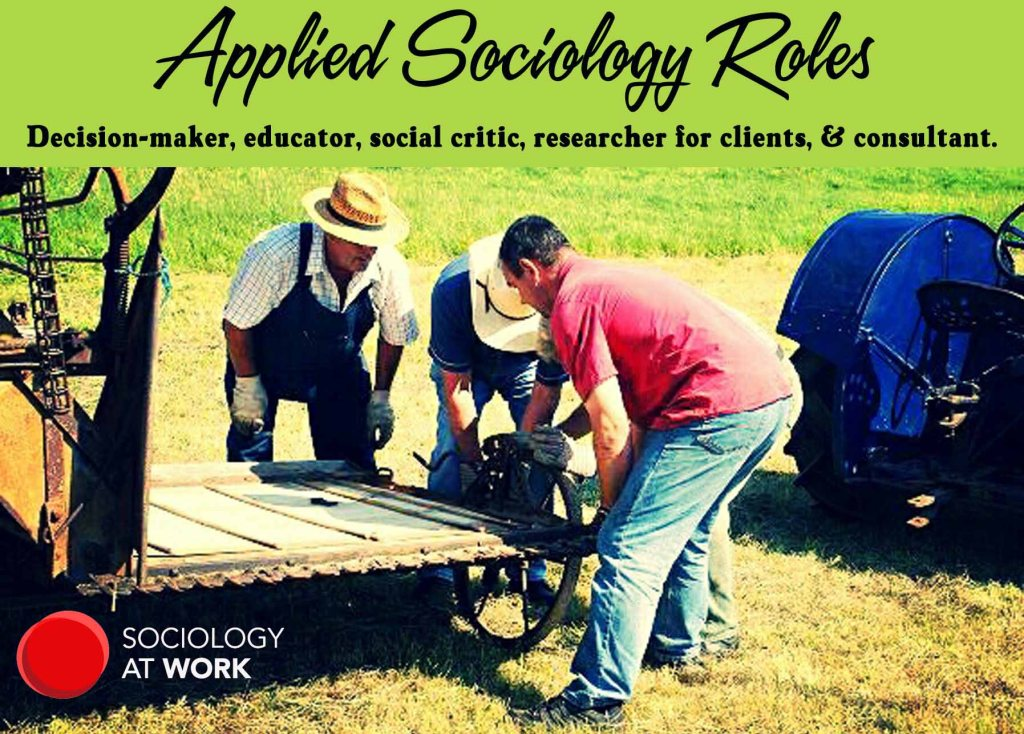 Applied Sociology Roles: Decision-maker, educator, social critic, researcher for clients, & consultant.